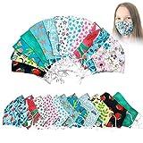 KateMotiveShop Maske für Kinder, Jugendliche und Junggebliebene Youngsters Series - Mundschutz Gesichtsmaske aus Stoff, 2-lagig, verschiedene Farben, Große Auswahl