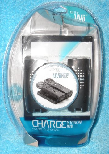 Nintendo Wii Induction Two Station Charger with Two Batteries