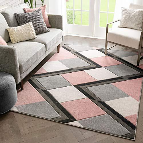 Well Woven Naya Teppich mit geometrischem Rautenmuster, 220 x 160 cm