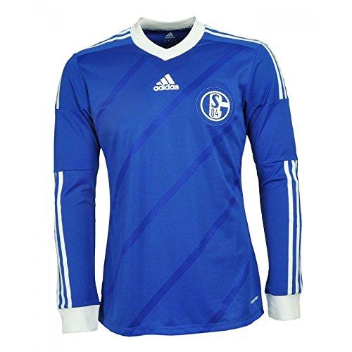 Adidas Schalke 04 Home Jersey LS X49509 Herren Fußballtrikot / Trikot / Fantrikot Blau M