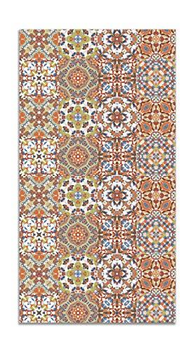 Panorama Alfombra Vinílica Baldosa Hidráulico Oriental Original 60x110 cm - Alfombra Cocina Vinilo - Alfombra Salón Antideslizante e Ignífuga - Alfombras Grandes - Alfombras PVC