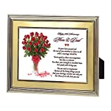 Mom and Dad Gift for 50th Anniversary, Parents Anniversary Poem in Gold Frame
