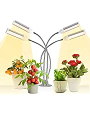 LED Grow Light for Indoor Plant, 4 Head Sunlike Full Spectrum Plant Light 108W, Gooseneck Grow Lamp with Timer Function, Professional for Seedling Growing Blooming Fruiting