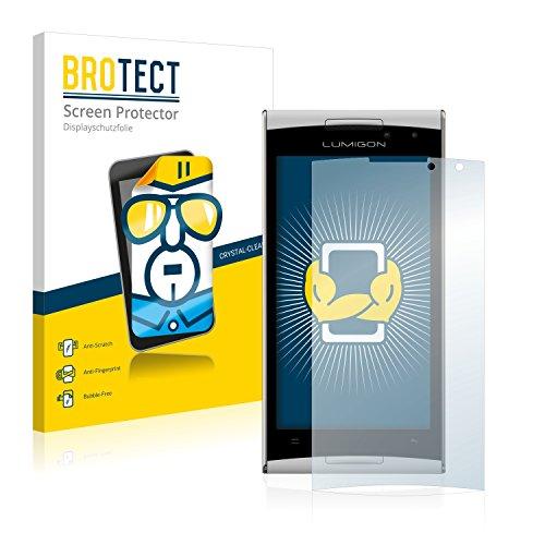 BROTECT Schutzfolie kompatibel mit Lumigon T2 HD 2014 (2 Stück) klare Bildschirmschutz-Folie