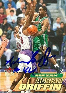 Autograph Warehouse 44791 Adrian Griffin Autographed Basketball Card Boston Celtics 2000 Fleer Ultra No .135