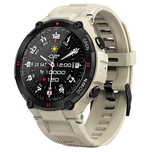 Reloj inteligente, Relojes inalámbricos pantalla táctil de 1.28 pulgadas, Monitoreo del sueño Contador de pasos para deportes al aire libre,Dial personalizado Modo multimovimiento Pulsera inteligente