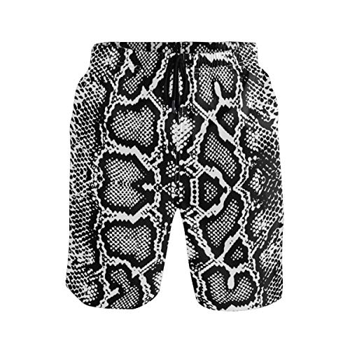 KUWT Mens Swim Trunks Animal Snake Print Quick Dry Beach Shorts Summer Surf Board Shorts