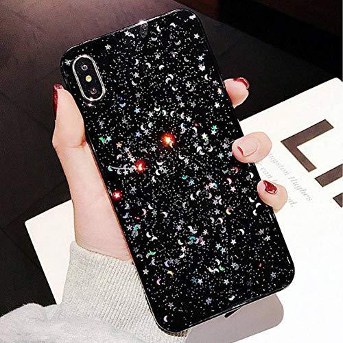 SEDRF Art- und Weisebling-Glitter-Stern-Mond-glänzende Puder-Kästen für iPhone XS maximaler...