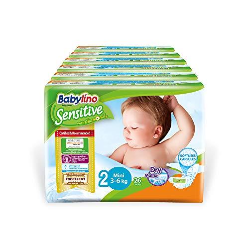 Babylino Sensitive Mini, 156 Pannolini Taglia 2 (3-6Kg)