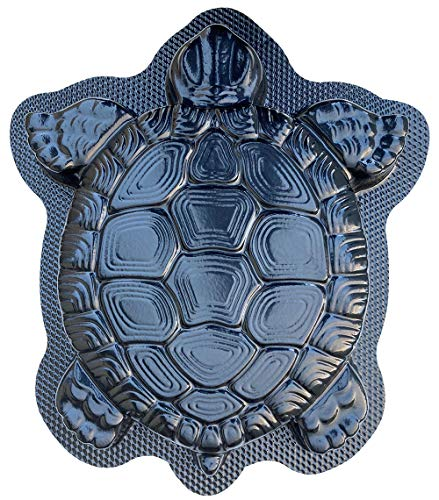 AUTUMN Turtle Stepping Stone Mold, Concrete Cement Mold, DIY Walkway Stepping Stones, Turtle Statue for Garden, Turtle Garden Decor Mold, for Non-Slip Stepping Stones, Textured Mold, Made in USA