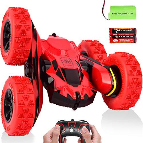 avis tout terrain professionnel Voiture radiocommandée tout-terrain radiocommandée blessée, voiture radiocommandée acrobatique 4 roues motrices 360 RC jouets…