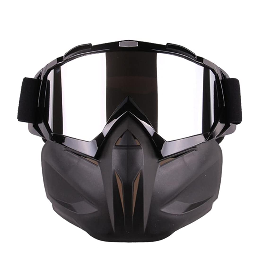 2017 New Arrival Motorcycle Goggles With Detachable Mask, Anti-Fog Windproof Motorcycle Goggles Face Mask Shield Motocross Goggles