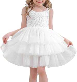 MELYUM Tutu Dress for Baby Girls Infant Toddlers Princess Party Lace Sleeveless Tulle for Weddings