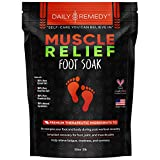 Muscle Relief Foot Soak with Epsom Salt, Made in USA, Soothe Foot Aches, Muscle Pain, Joint Soreness, Tired Feet, Softens Calluses and Helps Athletes Foot 2lbs