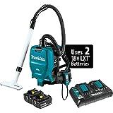 Makita XCV05PT 18V X2 LXT Lithium-Ion (36V) Brushless Cordless 1/2 Gallon HEPA Filter Backpack Dry Dust Extractor/Vacuum Kit (5.0Ah)