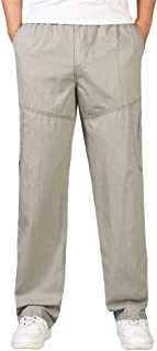 GAGA Men Flat Front Trousers Wrinkle-Free Casual Stretch Pants