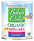 Baby's Only Dairy with DHA & ARA Toddler Formula - Non GMO, USDA Organic, Clean Label Project...