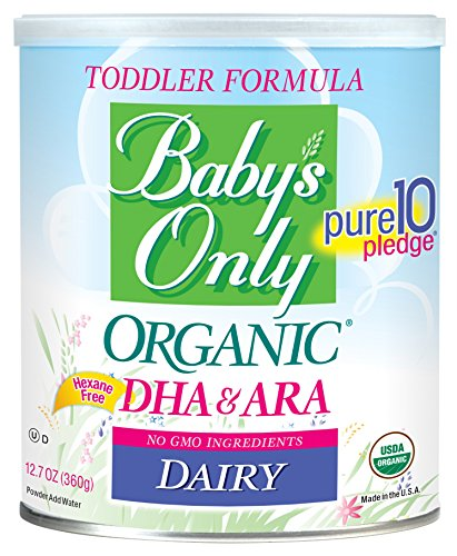 Baby's Only Dairy with DHA & ARA Toddler Formula - Non GMO, USDA Organic, Clean Label Project Ver...