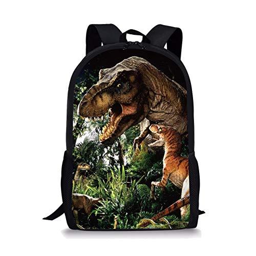 POLERO - Mochila infantil con diseño de dinosaurio de dinosaurio, estilo vintage, ideal para niños y niñas Multicolor T-Rex 44x28x13cm