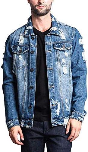 Victorious Men's Distressed Denim Jacket