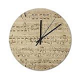 Pealrich Reloj de pared silencioso de 30 x 30 cm, con notas