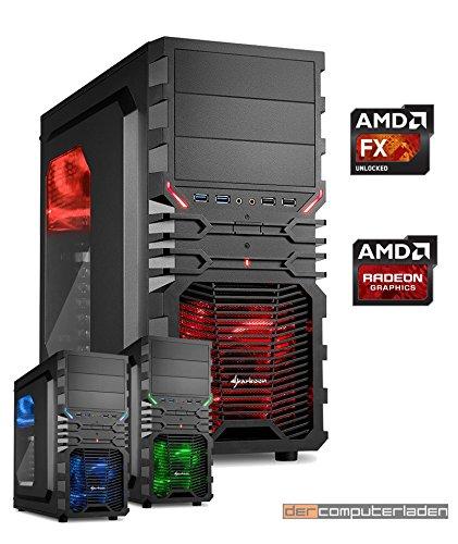 Procesador de actualización ordenador gaming, placa base, DDR4, con carcasa, compuesto en Alemania negro FX 6300 mit Radeon HD3000 mit 16GB DDR3-RAM