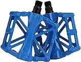 AIlysa Bicicleta de Montaña, Pedales Bici MTB de Montaña,, Aluminio Antideslizante 9/16 Pedales Ciclismo con Rodamiento Sellado, para Mountain Bike, Bicicleta BMX, Bici Carretera (Azul)
