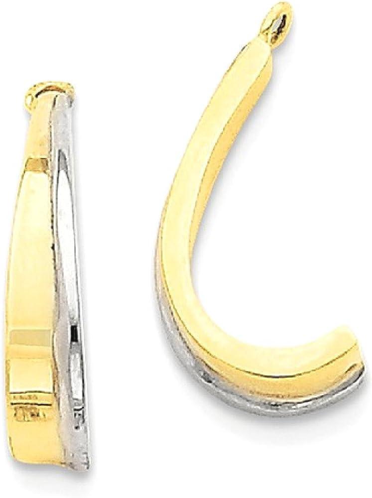 14k Yellow Gold J Hoop Earrings Ear Hoops Set Jacket Jackets Studs Fine Jewelry For Women Gifts For Her