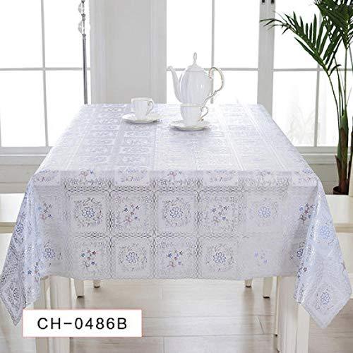 Traann Plastic tafelkleed schoonmaakdoekjes, vierkant wipe clean, vinyl/kunststof tafelkleed retro 140*137 B
