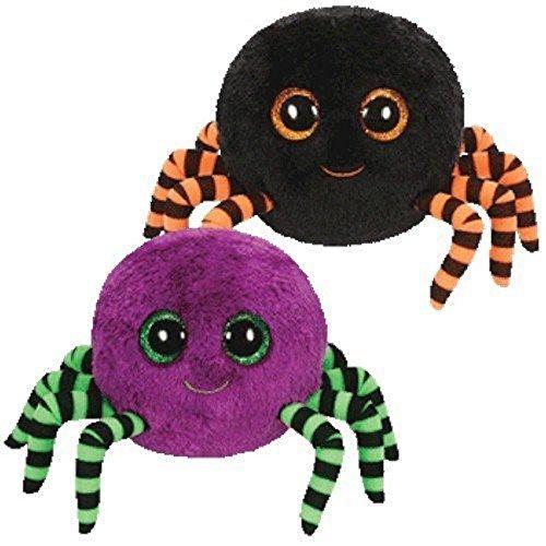 Crawly Halloween Spinne, Juguete Araña Beanie Boo, 15 cm, surtido: colores aleatorios