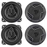 (4) Rockville RV4.3A 4' 3-Way Car Speakers 1000 Watts / 140w RMS CEA Rated Total