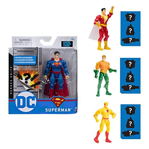 DC Comics - Action Figure Superman, 10 cm, con 3 accessori misteri, Adventure 4