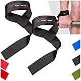Lifting Wrist Straps by Rip Toned (Pair) - Bonus Ebook - Lifetime Warranty - Cotton Padded - For Weightlifting, Bodybuilding, Crossfit, Strength Training, Powerlifting, MMA [並行輸入品] (black)