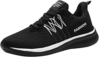 Men Mesh Breathable Sneakers Casual Shoes, Male Lightweight Comfortable Flat Bottom Walking Running Shoes