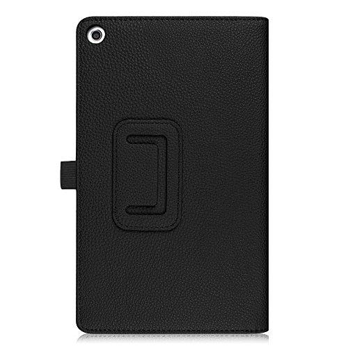 Fintie Huawei Mediapad T3 8 Hülle Case - Ultra Schlank Kunstleder Folio Schutzhülle Etui Tasche Case Cover mit Standfunktion für Huawei MediaPad T3 8 20,3 cm (8,0 Zoll) Tablet-PC, Schwarz - 6
