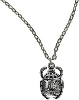 Scarab Necklace, Egyptian Scarab, Egyptian Jewelry, Silver Beetle Necklace, 90s Jewelry, Boho Jewelry, Scarab Beetle, Hieroglyphic Jewelry