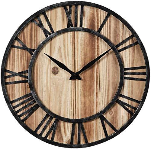 Reloj de Pared Vintage Reloj de Pared de Madera de DLMDLL silencioso Reloj sin tictac de la Vendimia 16 * 16 Pulgadas