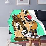 Boutique Throw Blanket -Chip N Dale Super Soft Fleece Throw Blankets,Fuzzy Plush Blanket Oversized,Thin Lightweight Blanket for All Season 60'x50'