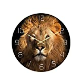 Reloj de pared redondo de 30 cm, silencioso, sin tictac, pat