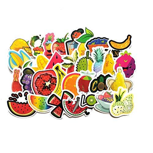 2-3 cm mano cuenta saludable frutas pegatinas para maleta, monopatín, ordenador portátil, equipaje, nevera, teléfono diy etiqueta engomada 31 unids
