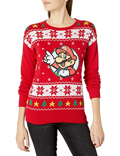 Nintendo Women's Ugly Christmas Sweater, Red, X-Large