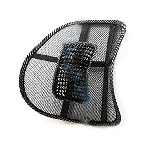 WINOMO Siège auto coussin Relax siège Bureau retour lombaire taille Massage Mesh coussin Support coussin de chaise (noir)