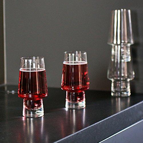 Magisso Pino bierglas, stapelbaar, glas, 9 x 9 x 17,5 cm, 2 stuks