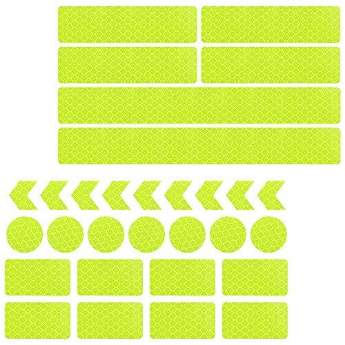 N-A RtottiM, 30 adesivi catarifrangenti per bicicletta, riflettori, riflettori, adesivi per bicicletta, caschi