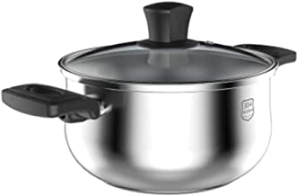 LJBH 304 Stainless Steel Soup Pot, Household All-steel Thick Bottom Small Hot Pot Soup Milk Pot, 20cm, Universal Cooker hi...