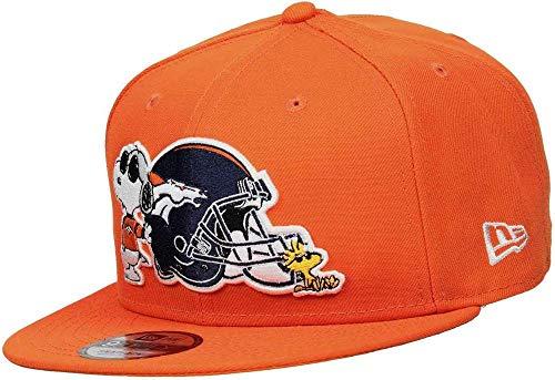 New Era 9Fifty Peanuts NFL Broncos Cap Basecap Baseballcap NFL-Cap Flat Brim Denver (S/M (54-57 cm) - orange)