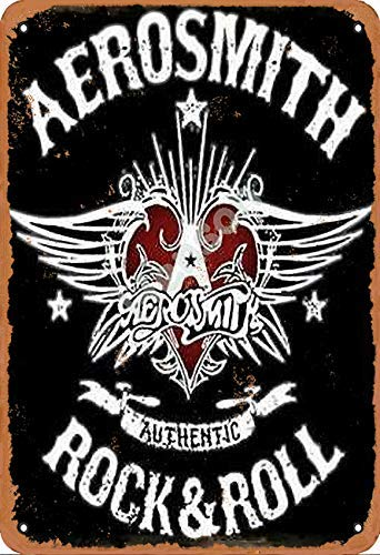 NOT Aerosmith Rock and Roll Dekor Poster Metall Blechschild Eisenmalerei Einzigartig Plakette zum Bar Cafe Zuhause Verein