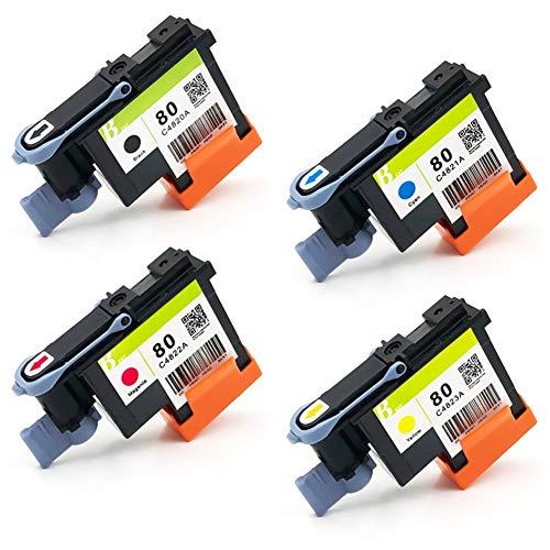 Cabezal De Impresión C4820A C4821A C4822A C4823A Cabezal De Impresión HP 80 Para Impresora HP Designjet 1050 1055 1055cm 1050c Plus (BK C M Y) Adecuado Para Múltiples Modelos De Impresoras