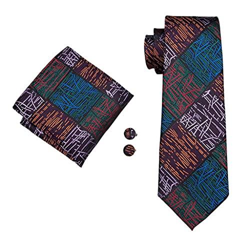 ZAIZAI Corbata de seda para hombre, para hombre, boda, fiesta de negocios, novio (color: A, tamaño: talla única)