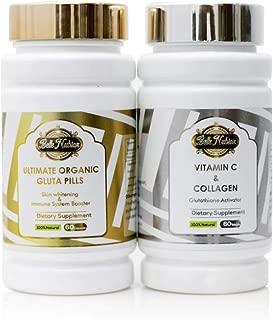 Ultimate Organic Pills + Vitamin C & Collagen (The Most Whitening Set 3000mg)